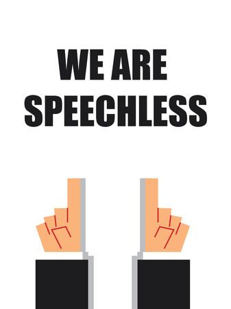 voiceless: WE ARE SPEECHLESS typography
