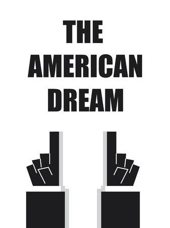 american dream: THE AMERICAN DREAM typography Illustration