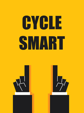 smart: CYCLE SMART typography poster Illustration