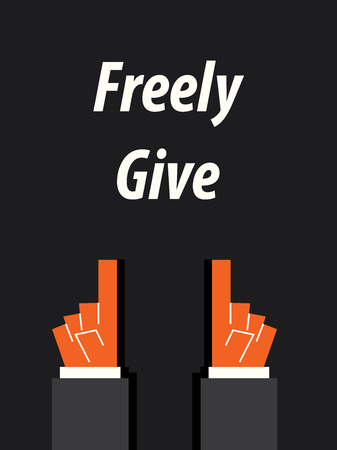 give: FREELY GIVE typography