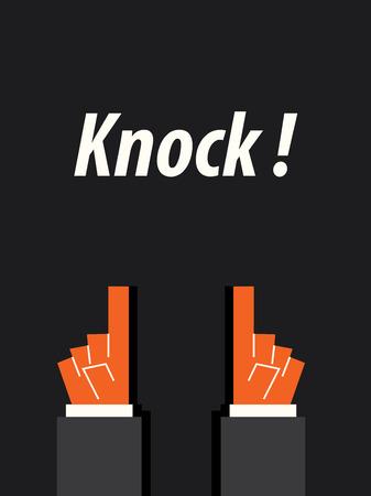 KNOCK typography