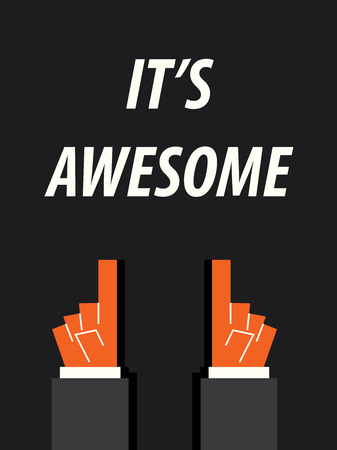 acknowledge: ITS AWESOME typography
