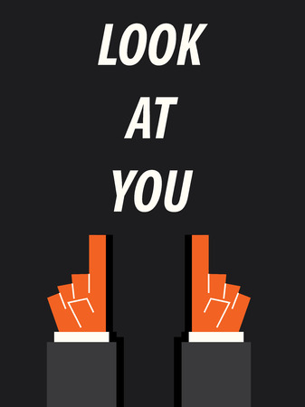 look: LOOK AT YOU typography