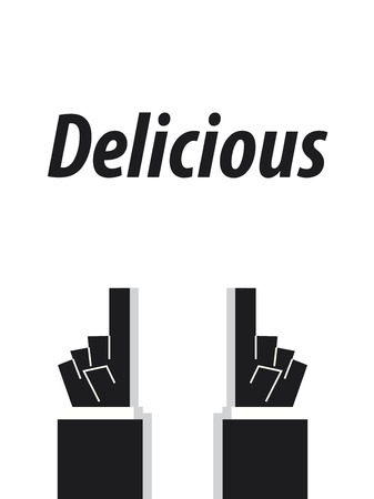 acknowledge: DELICIOUS typography