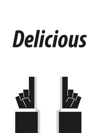 delicious: DELICIOUS typography
