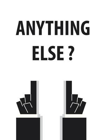 else: ANYTHING ELSE typography Illustration