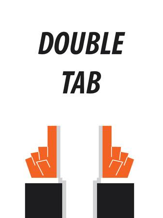 tab: DOUBLE TAB typography