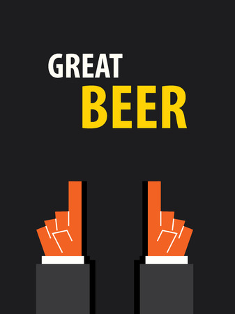 great: GREAT BEER typography