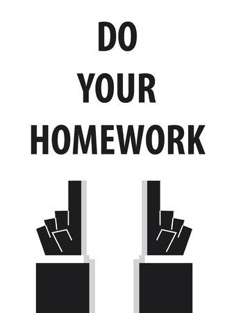 Ihre Hausaufgaben machen Typographie