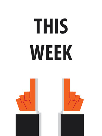 THIS WEEK typography vector