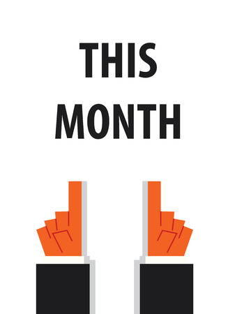 this: THIS MONTH typography vector