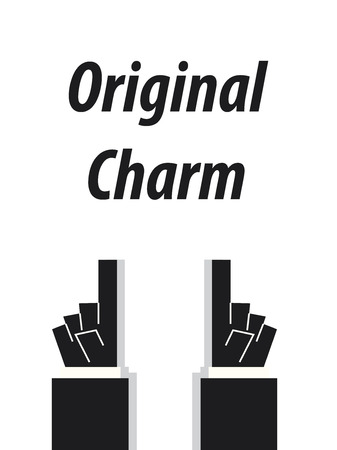 charm: ORIGINAL CHARM typography vector