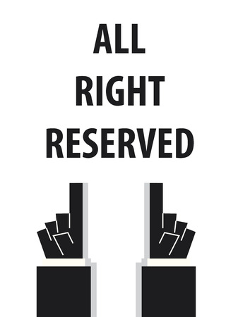 all right: ALL RIGHT RESERVED typography vector