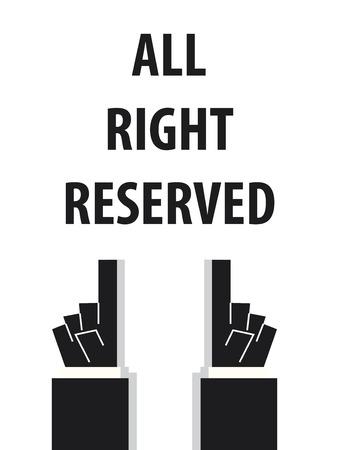 Todos los derechos reservados vector de la tipografía