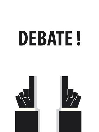controversy: DEBATE typography vector illustration