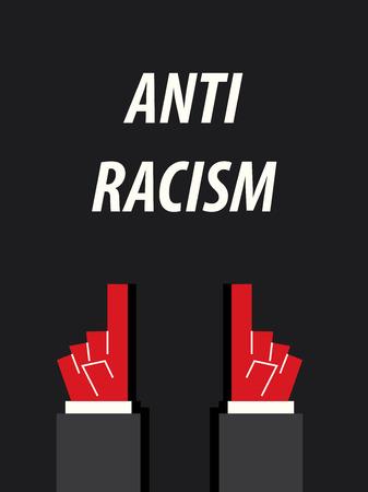 racismo: Racismo contra la ilustraci�n tipograf�a vector