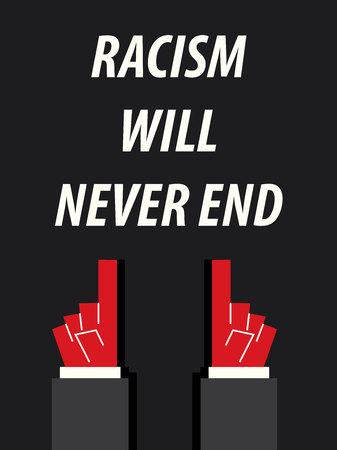 racismo: El racismo NEVER END ilustración vectorial de la tipografía Vectores