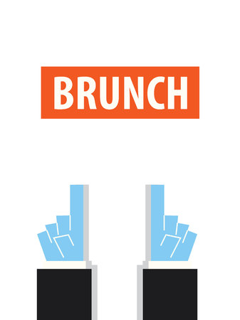 brunch: BRUNCH typography vector illustration Illustration
