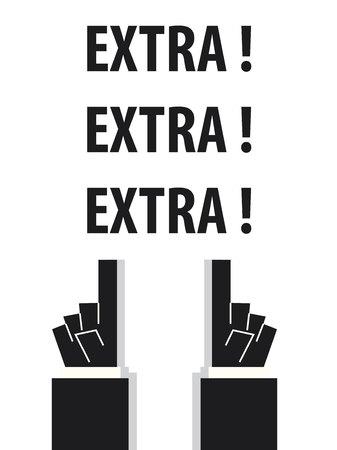 extra: EXTRA typography vector illustration