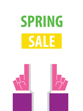 typography vector: SRPING SALE typography vector illustration
