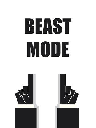 mode: BEAST MODE typography vector illustration