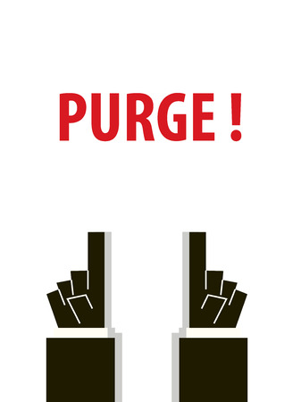 purge: PURGE typography illustration Illustration