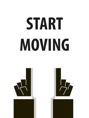 strat: START MOVING typography illustration Illustration