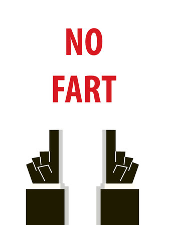 fart: NO FART typography illustration