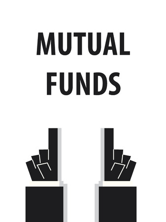 acknowledge: MUTUAL FUNDS typography vector illustration Illustration