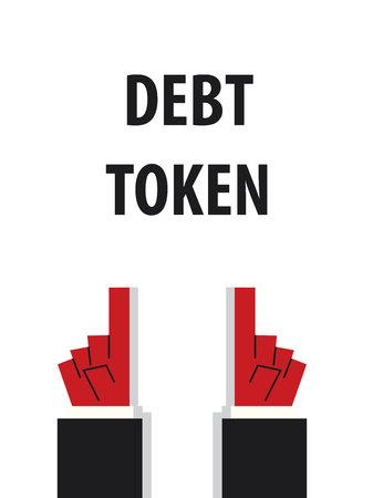 token: DEBT TOKEN typography vector illustration