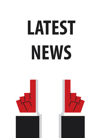 the latest: LATEST NEWS typography vector illustration