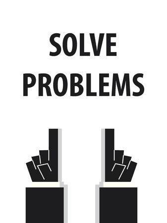 solve: SOLVE PROBLEMS typography vector illustration