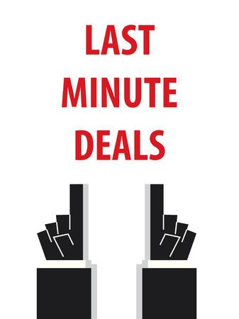 minute: LAST MINUTE DEALS typography vector illustration