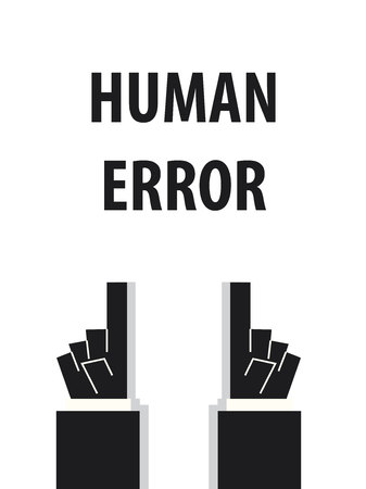 humanism: HUMAN ERROR typography vector illustration