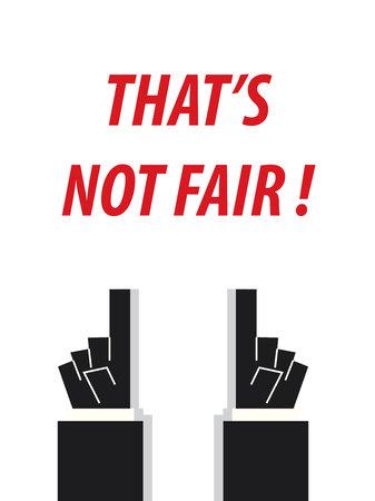 unbiased: THATS NOT FAIR typography illustration Illustration