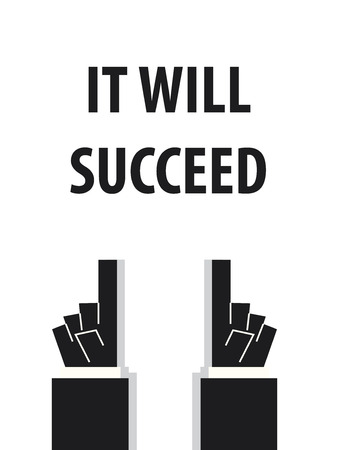 succeed: IT WILL SUCCEED typography illustration