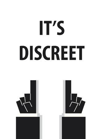 discreto: ES tipografía DISCRETO ilustración vectorial Vectores