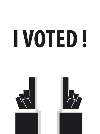 voted: I VOTED  typography vector illustration