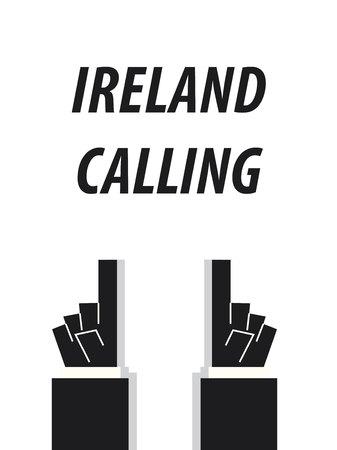 IRELAND CALLING typography vector illustration