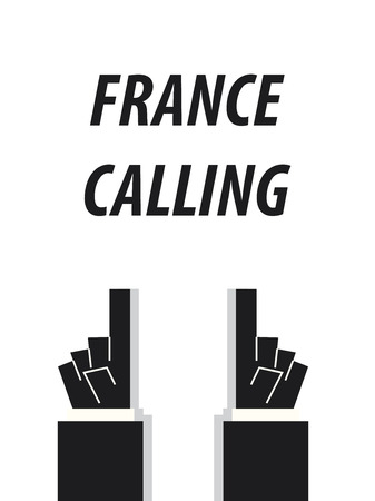 french board: FRANCE CALLING CALLING typography vector illustration