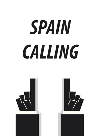 SPAIN CALLING typography vector illustration