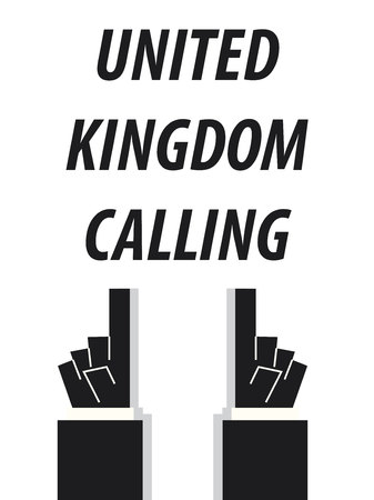 united kingdom: UNITED KINGDOM CALLING typography vector illustration Illustration