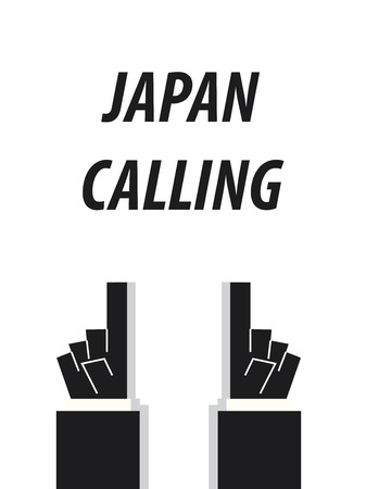 minister: JAPAN CALLING typography vector illustration