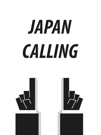 JAPAN CALLING typography vector illustration