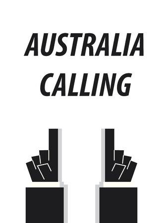 AUSTRALIA CALLING typography vector illustration