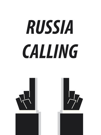 RUSSIA CALLING typography vector illustration