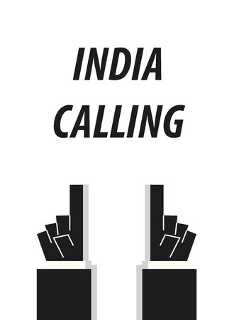 INDIA CALLING typography vector illustration