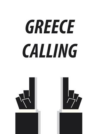 GREECE CALLING typography vector illustration