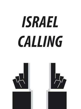 acknowledge: ISRAEL CALLING typography vector illustration Illustration