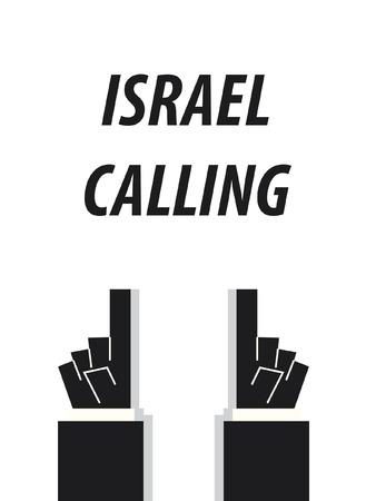 ISRAEL CALLING typography vector illustration